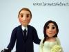 Sposini sulla torta di Eliana e Roberto