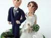 sposi su torta in autunno