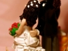 sposini su torta matrimonio country