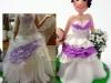 cake topper personalizzato particolare abito