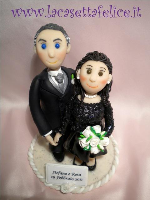 cake topper personalizzati Stefano e Rosa