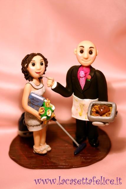 Sposi su torta antonio e alessia