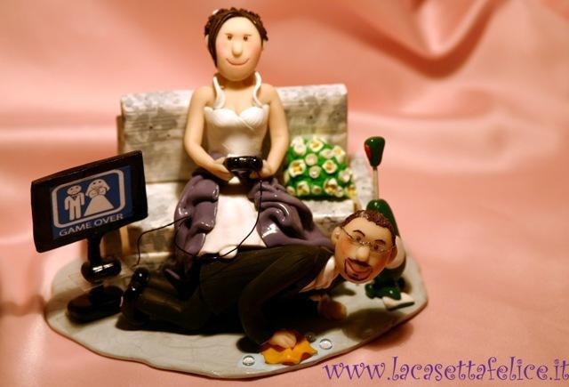 Sposi su torta game over