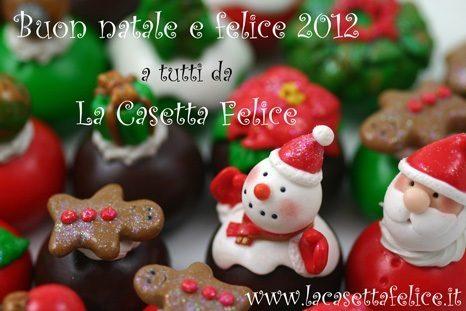 segnaposto per festeggiare il natale e il nuovo anno