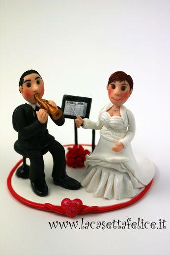 cake topper personalizzato musicale