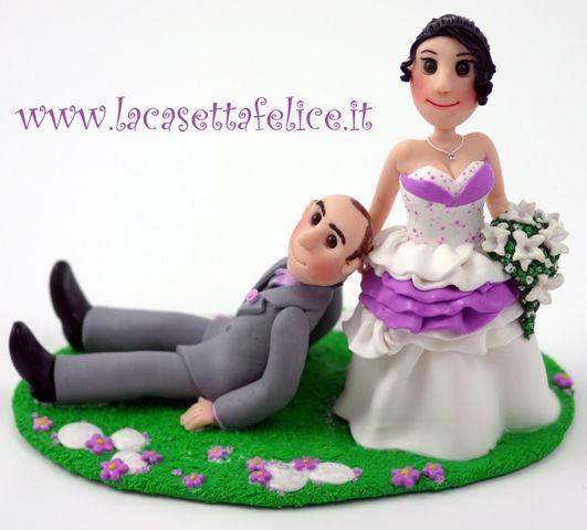 cake topper personalizzato lilla