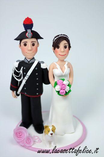 cake topper personalizzato con carabiniere