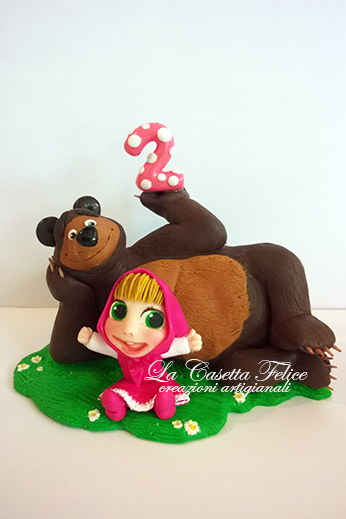 cake topper masha e orso
